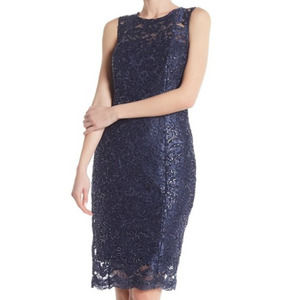 Marina Sequin Lace Sleeveless Dress